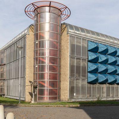 Instalacja Šimona Szaba, ekrany akustyczne, 2019, foto: archiw Kukačka